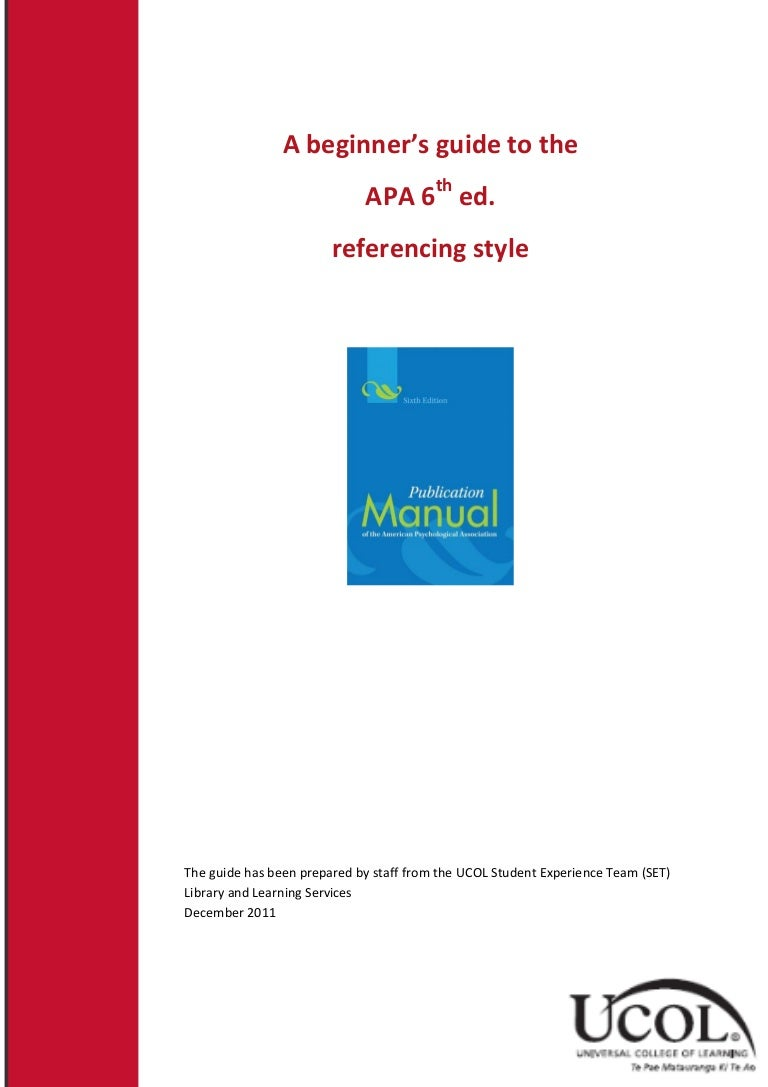 apa referencing a document from a website