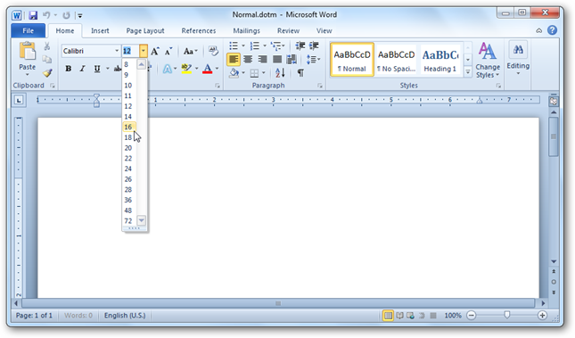 how to reset word document settings