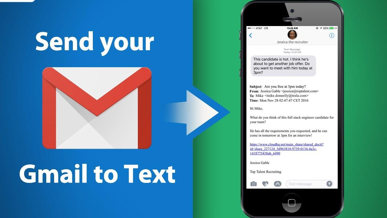 how to send a document via text