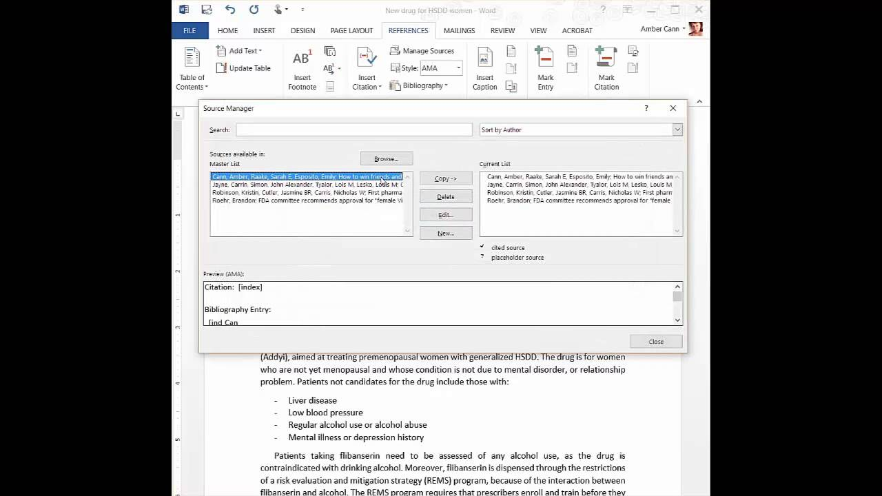 mla how to cite a word document