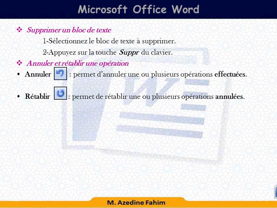 suprimer une page d un document word