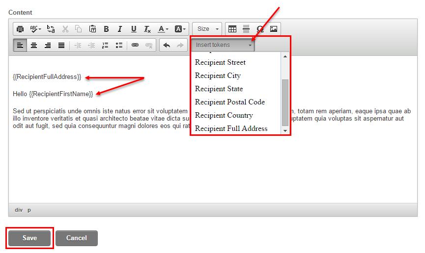 create a mail merge document