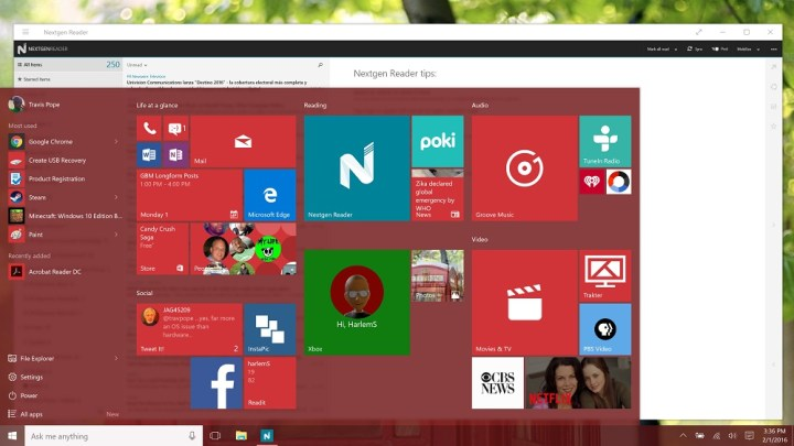 how to write a document on windows 10