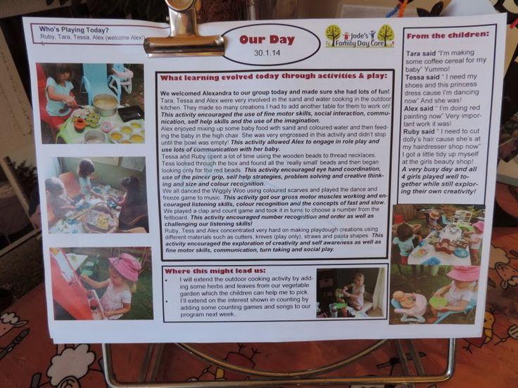 documentation in child care