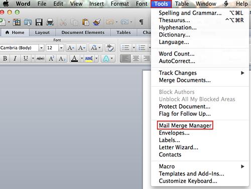 create a word document in mac