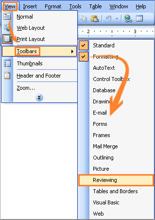 how to accept changes to word document