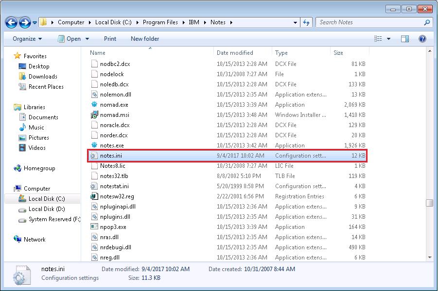 ibm notes edit location document invalid