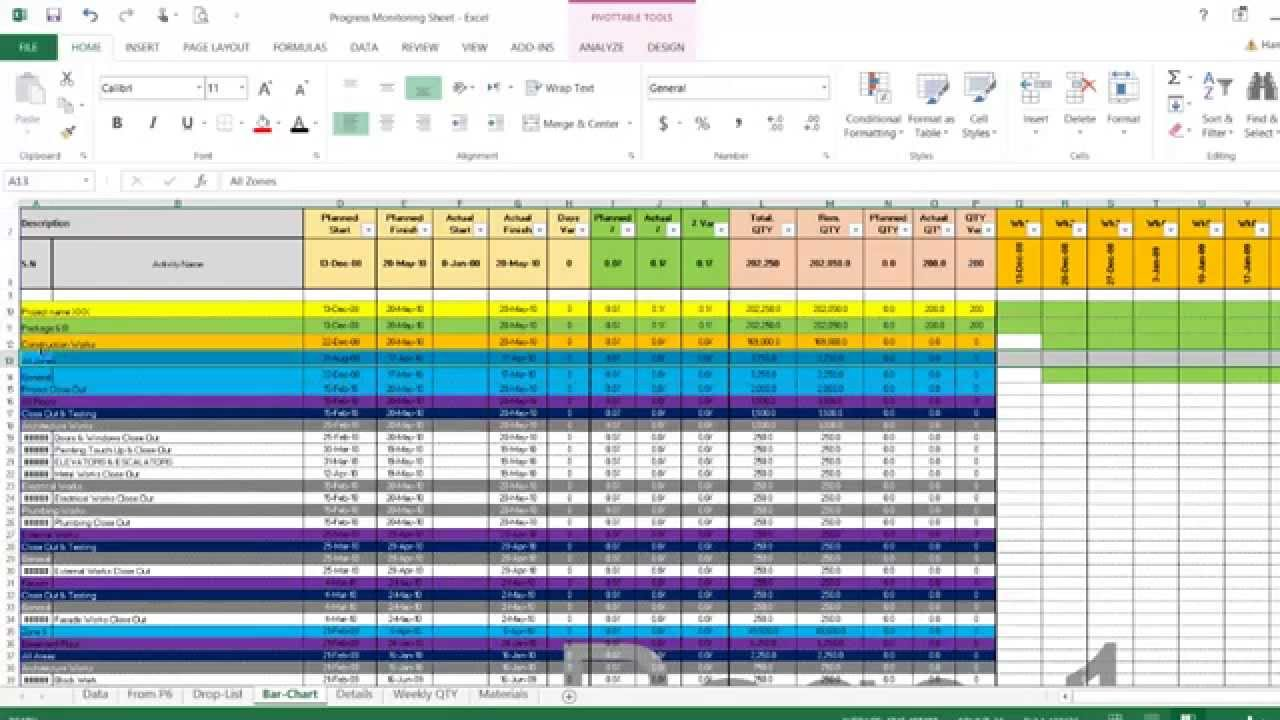 sample documentation sheet excel