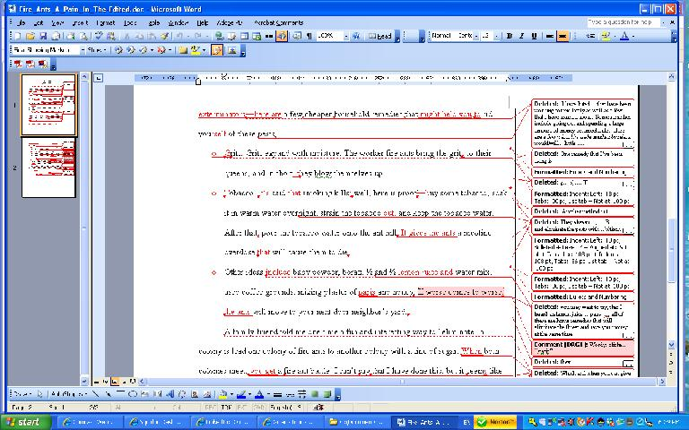 how to insert new word when rfeviewing word document