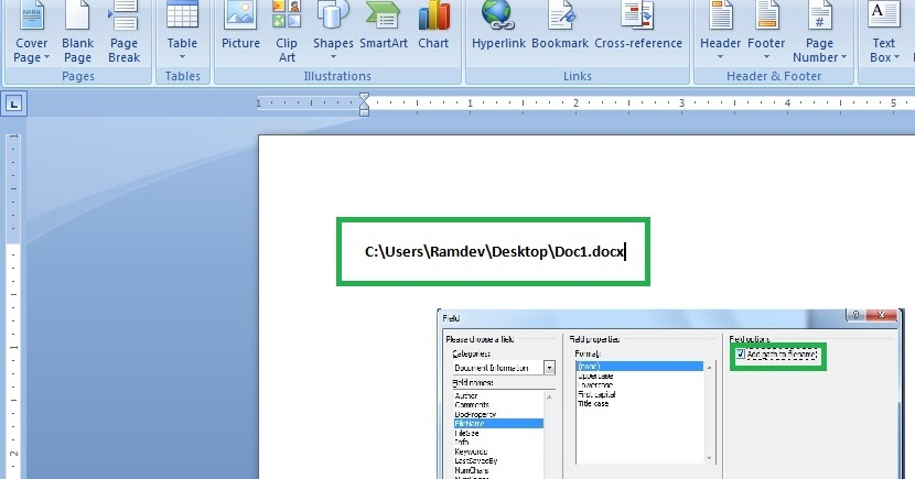 section break header and footer in word document 2016