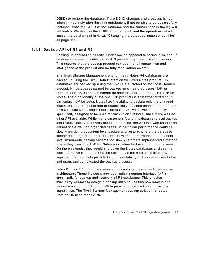 lotus notes database document management
