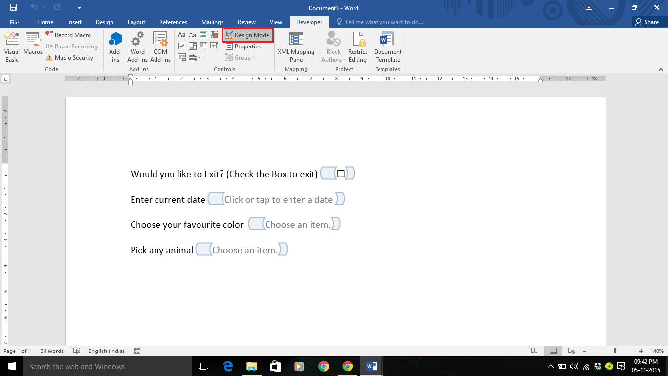 how to make a word document fillable