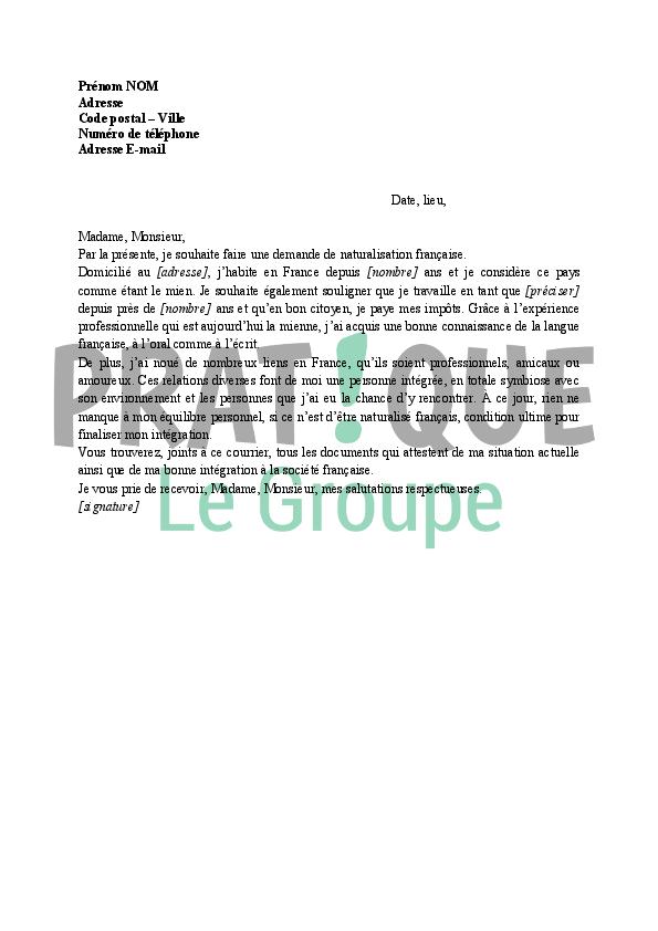 document de demande de visa pour la france