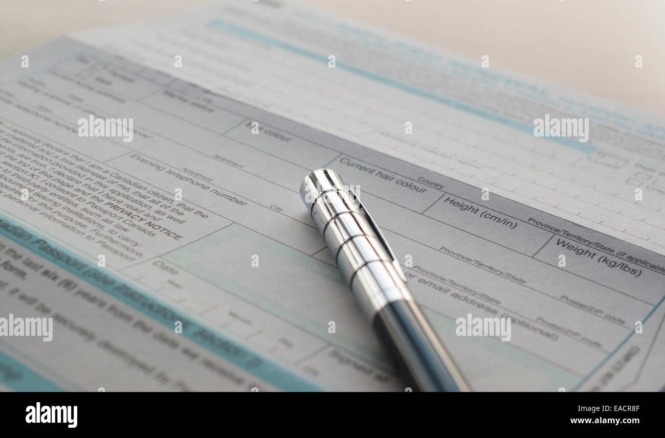 document checklist application for canadian passport