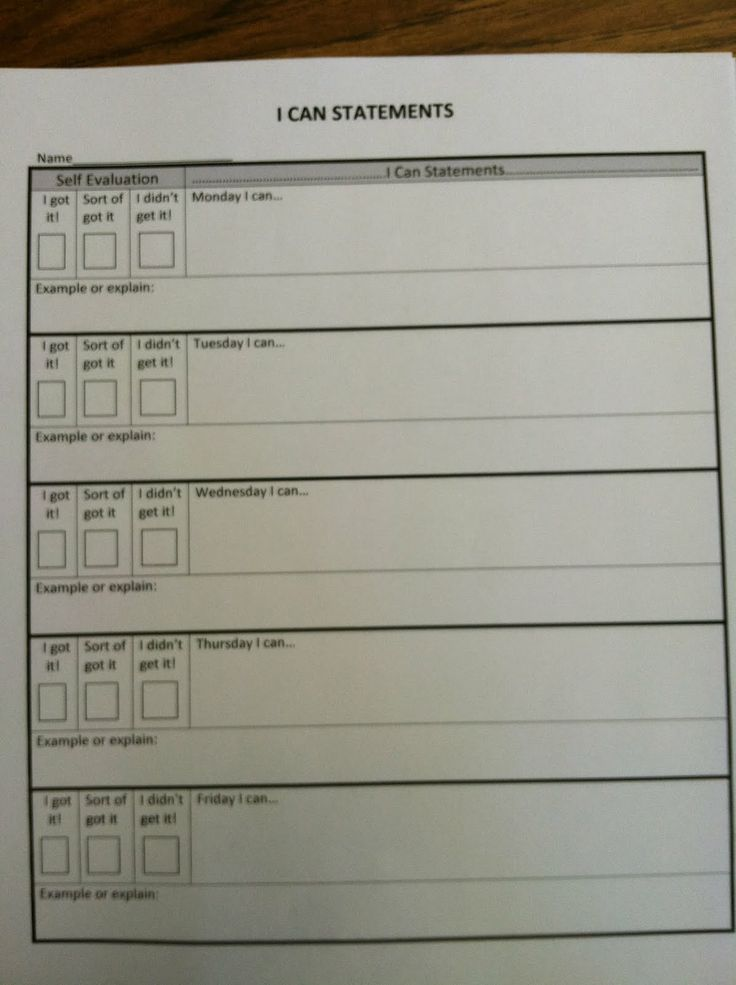 express education document assessment form