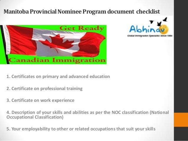 document checklist mpnp skill worker