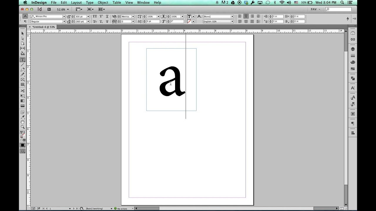 increase size of document indesign