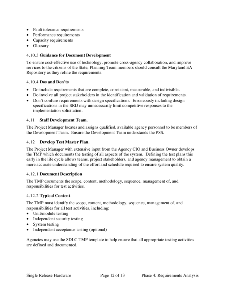requirement analysis document for website