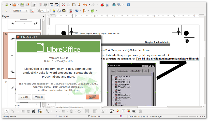 libreoffice document was edited while