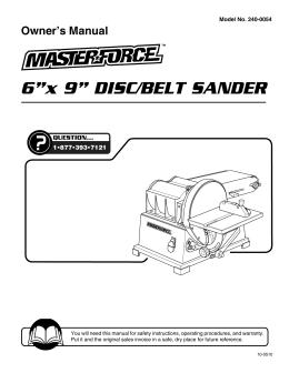 bee metal vertical sander document