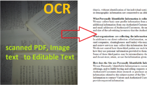 convert scanned pdf to text document