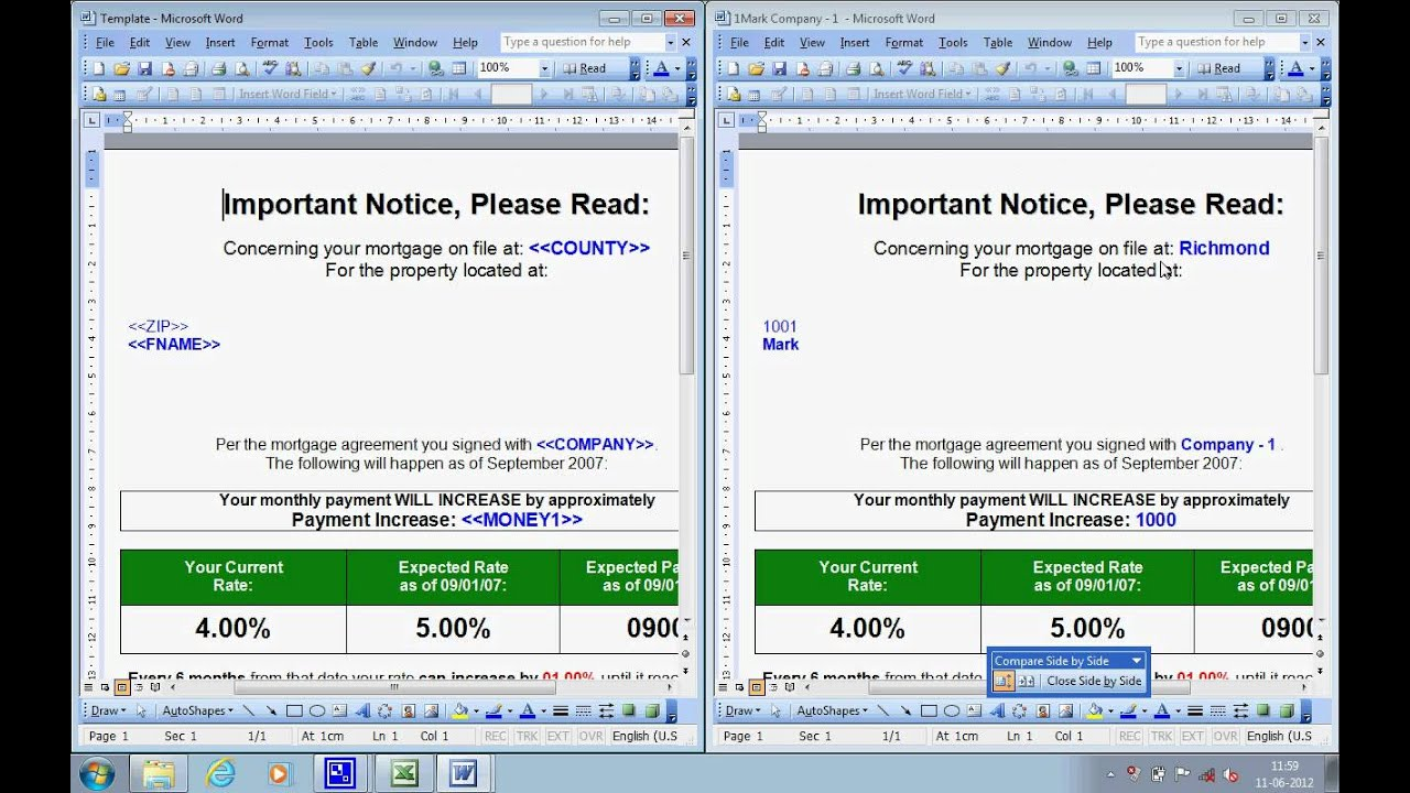exporting excel document data to word