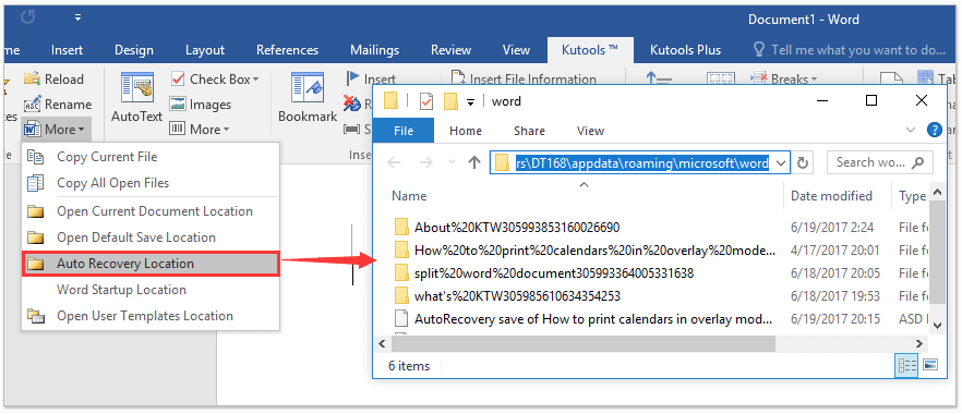 how to recover lost word document 2016