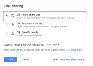 how to restrict access to a document on google drive