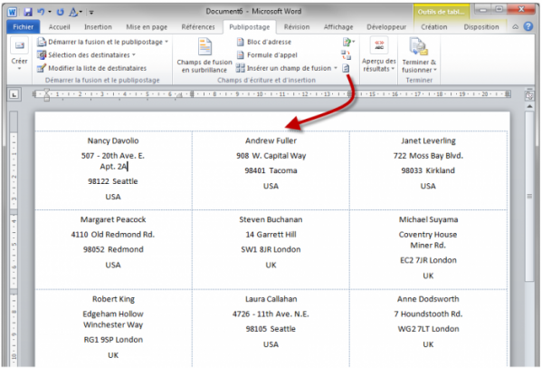 isoler une seule pge document word