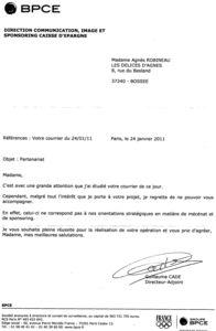lettre reponse a une demande de documentation