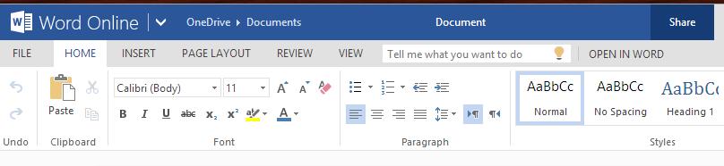 make ms word document online