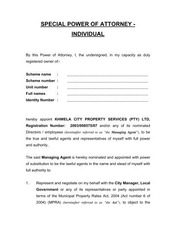power of attorney ups documentation