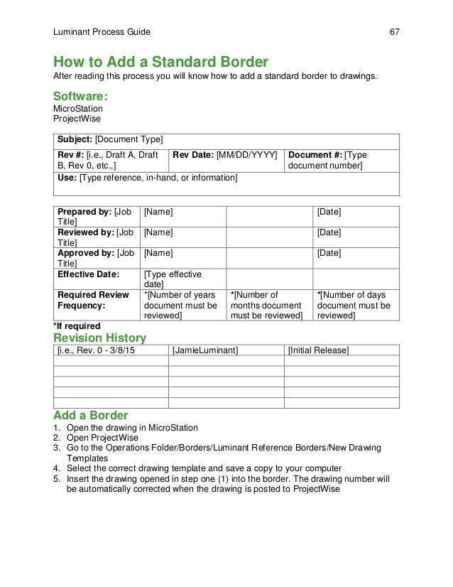 what is document control sheet