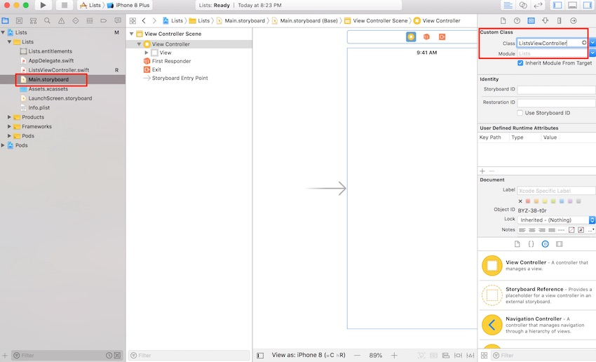 what is xcode instpector project document setting